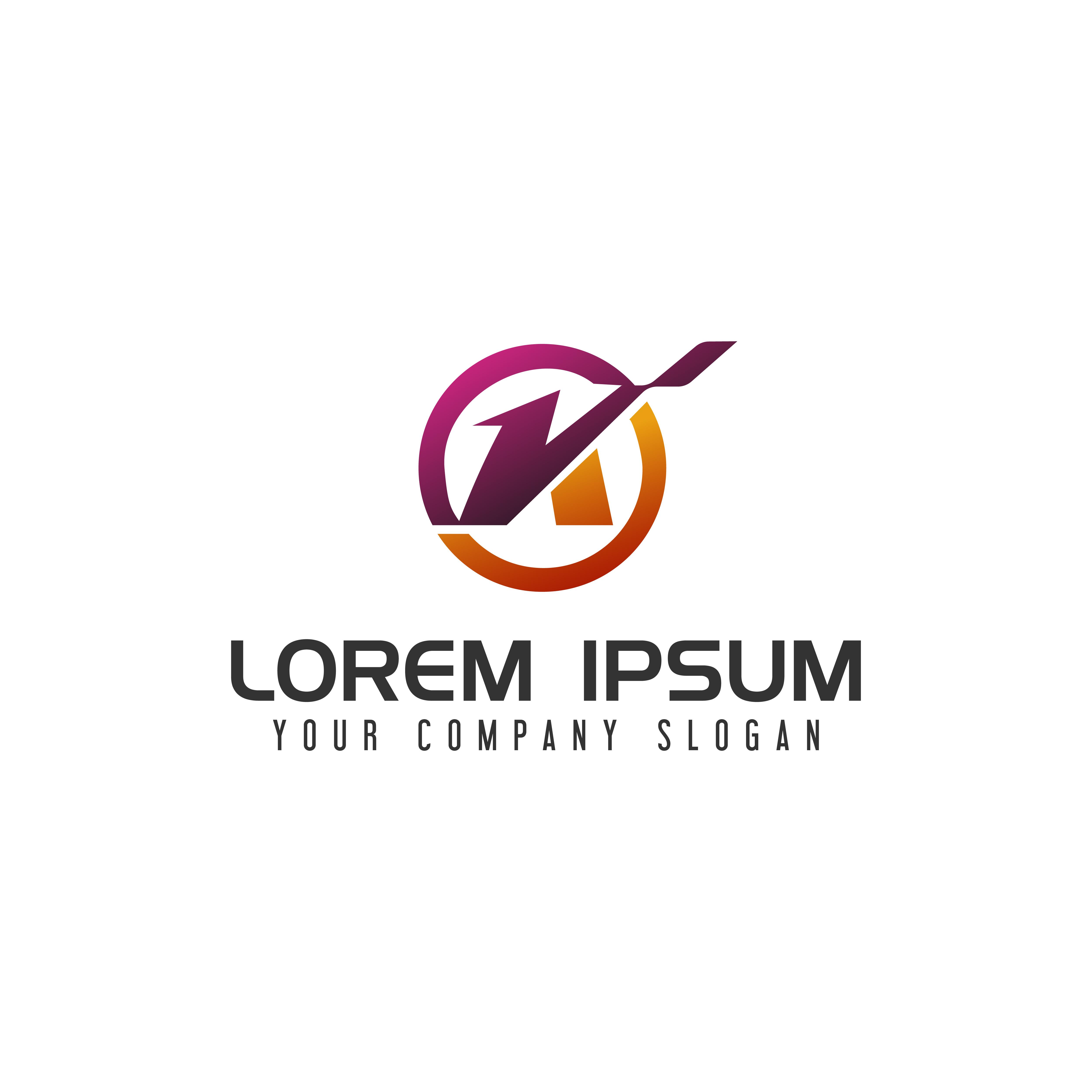 Modern Letter K Logo Concept:  Letter K Logo Design Concept Template 606616
