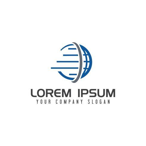 Modelo de conceito de design de logotipo logístico globo