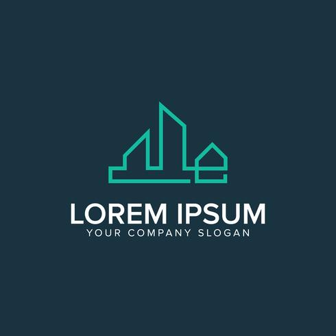 Immobilien-Logo. Immobilienlogo-Konzept des Entwurfes des Hypothekenhauses