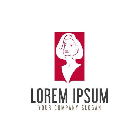 Beauty Woman Logo Design-Konzept-Vorlage