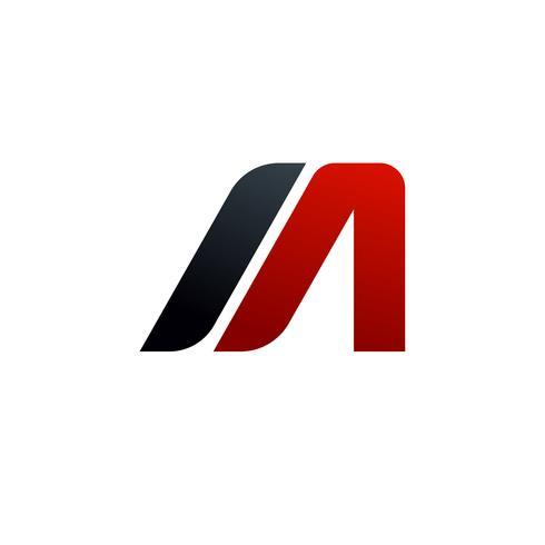 bokstav A, M-logotyp. hastighet logotyp design koncept mall
