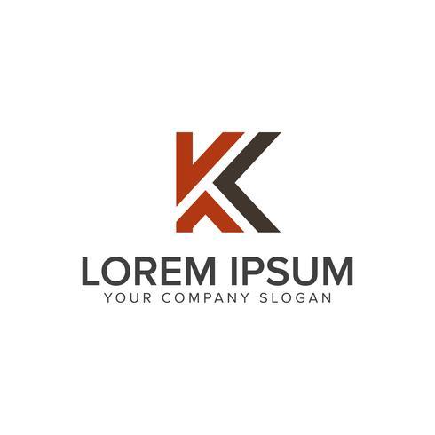 Plantilla de concepto de diseño de logotipo letra K