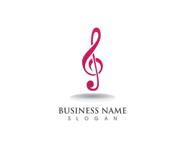 Plantilla de logotipo e iconos de símbolo de nota musical