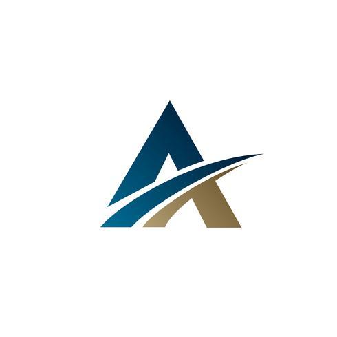 letter A logo.. Business corporation logo design concept templat vector