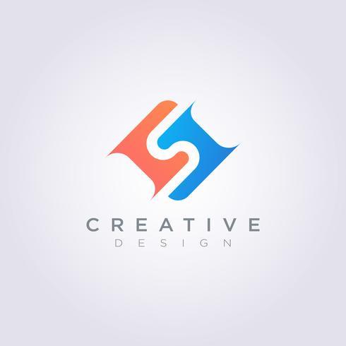 Letra S Vector Illustration Design Clipart símbolo Logo plantilla
