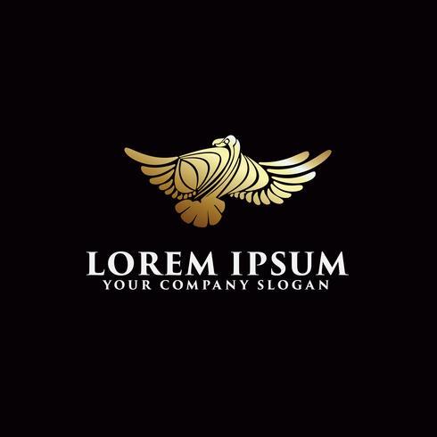 Luxus-Vogel-Logo-Design-Konzept-Vorlage