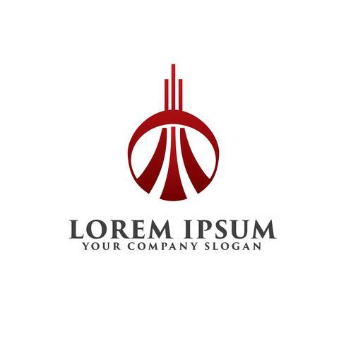 Fastighetslogo. Arkitektonisk konstruktion logotyp designkoncept