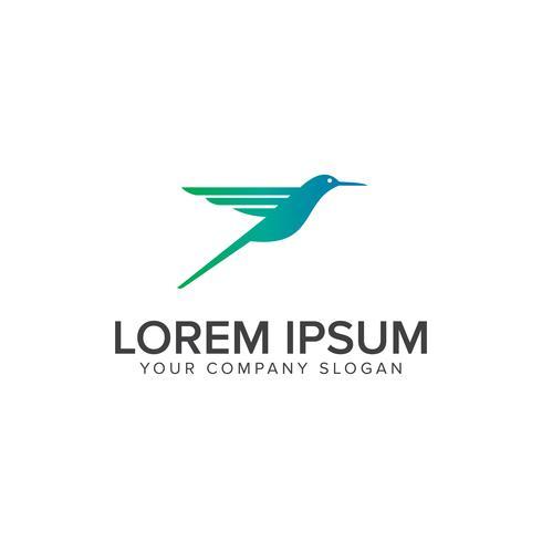 kolibrie logo ontwerpsjabloon van het concept