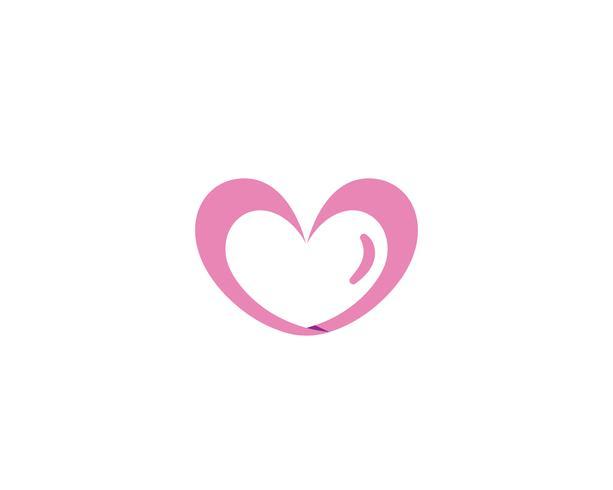 Amor Logo y símbolos iconos vectoriales de plantilla