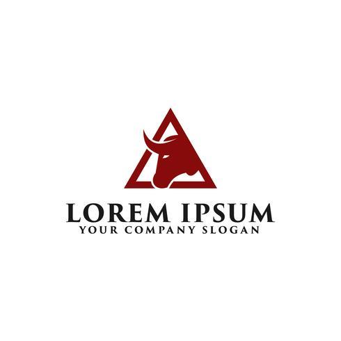 plantilla de concepto de diseño de logotipo de toro vector