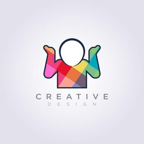 Shrug Vector Illustration Design Clipart Symbol Logo Mall