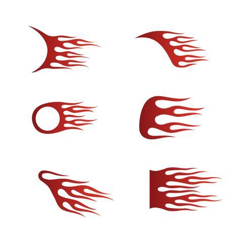 Llamas de fuego en estilo tribal para tatuajes, vehículos y camisetas.