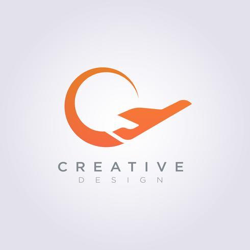 Airplane Vector Illustration Design Clipart Symbol Logo Template