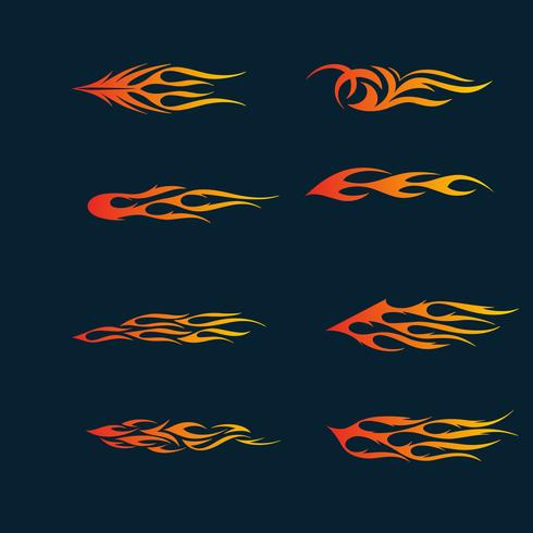 fire flames in tribal style for tattoo, vehicle and t-shirt deco