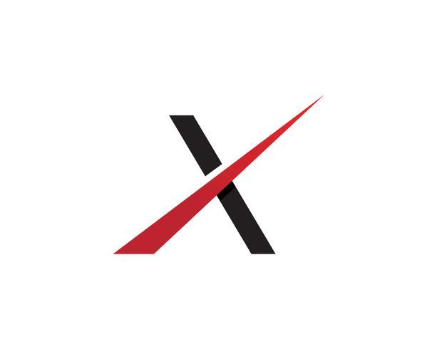 X Logo Template-Vektorikonendesign