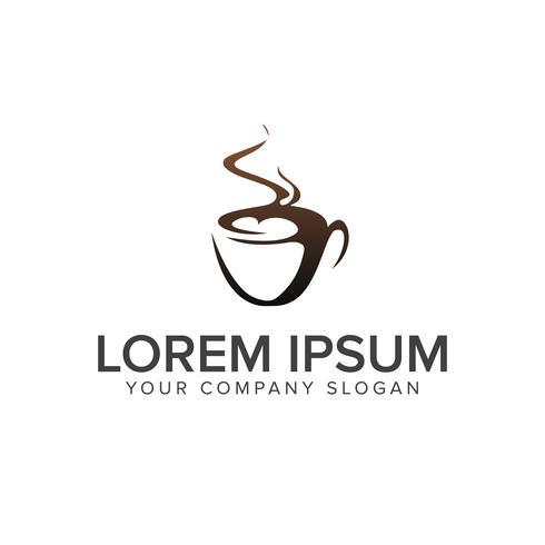 Modèle de concept de design boisson café logo