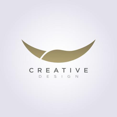 Tierhorn-Vektor-Illustrations-Design Clipart-Symbol Logo Template