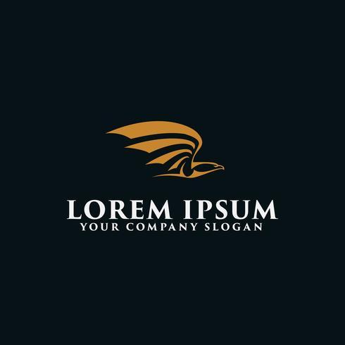 luxe vliegende vogel logo ontwerpsjabloon concept van conceptontwerp sjabloon