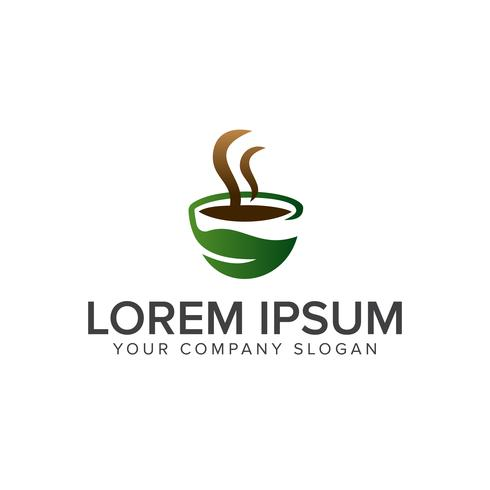 grön kaffe logotyp koncept mall