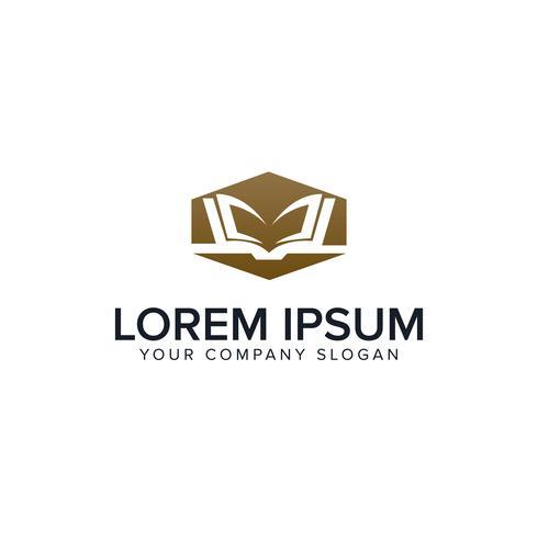 modelo de conceito de design de logotipo de livro de educação
