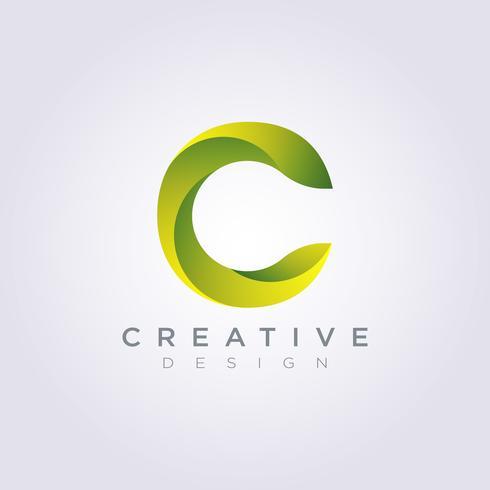 Letter C Vector illustratie ontwerp Clipart symbool Logo sjabloon