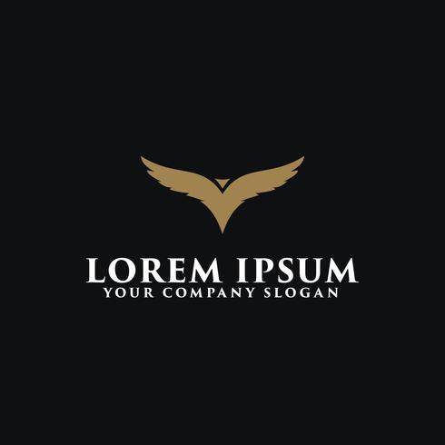 Plantilla de concepto de diseño de plantilla de concepto de diseño de logotipo de aves de lujo