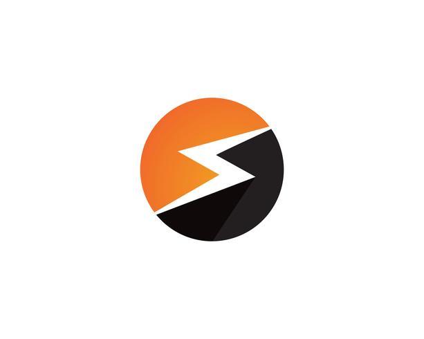 logotipo relâmpago e símbolos