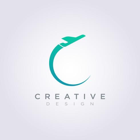 Flygplan Vektorillustration Design Clipart Symbol Logo Mall vektor