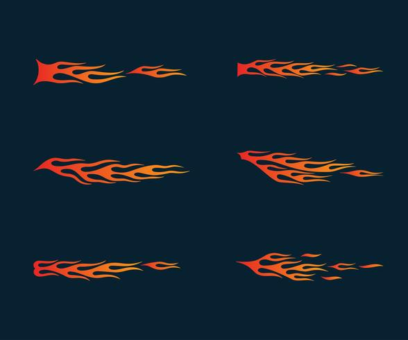 chamas de fogo em estilo tribal para tatuagem, veículo e t-shirt deco vetor