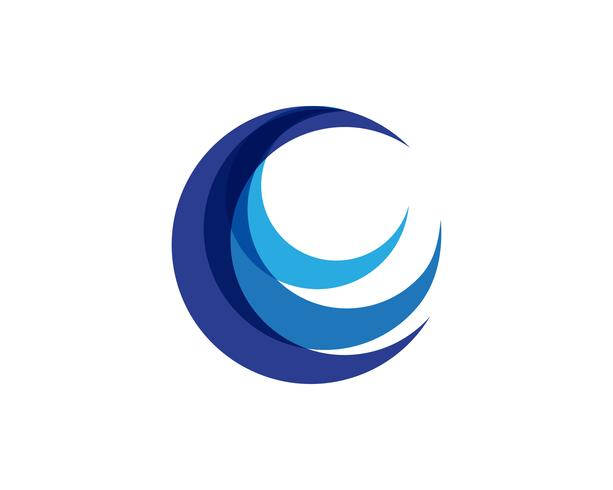 Círculo C Logo Template Design Vector