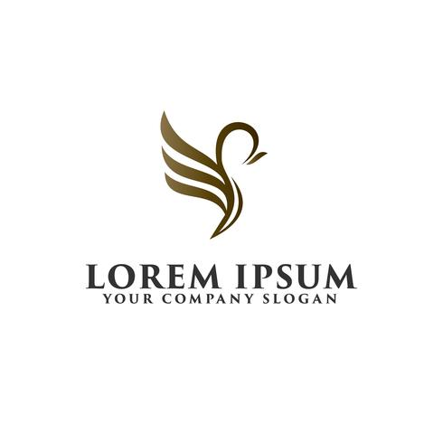 modello di concetto di design di lusso uccello logo