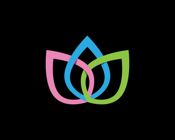 Gestileerde lotusbloem pictogram vector achtergrond zwart