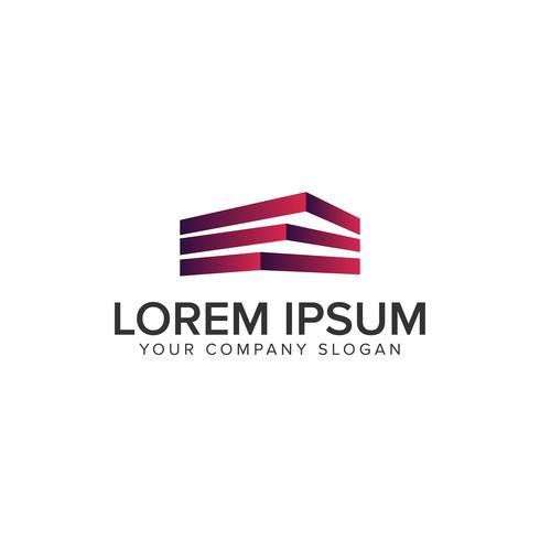 bâtiment modèle de concept de conception de logo. Modèle de concept de conception de construction architecturale logo