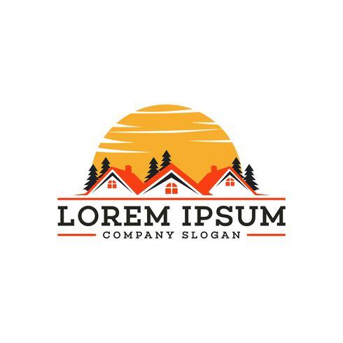 Logo immobiliare Casa di mutui immobiliari logo design concept