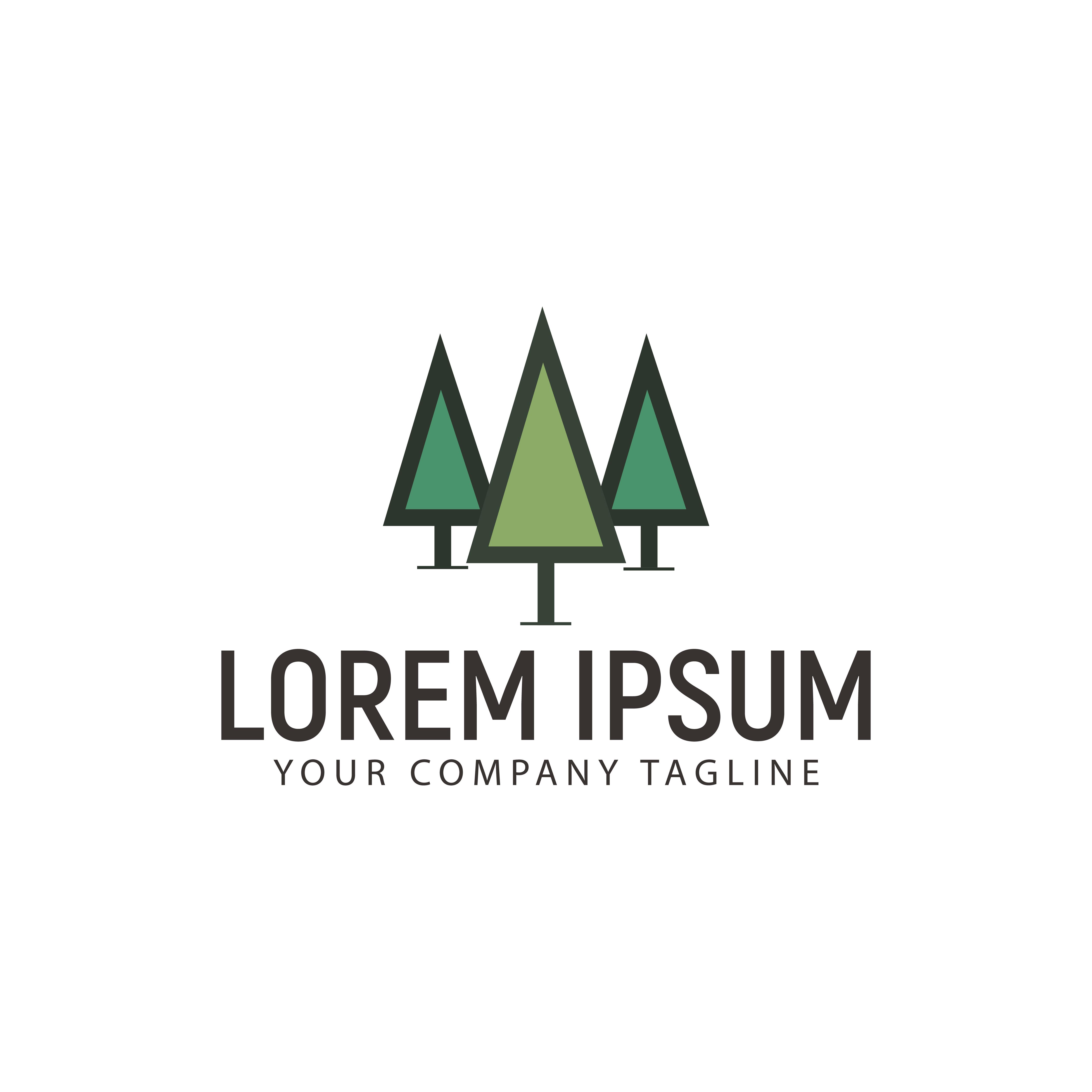 Minimalist Tree Logo Design Concept Template