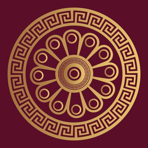 Fundo de design ornamental de luxo na cor dourada