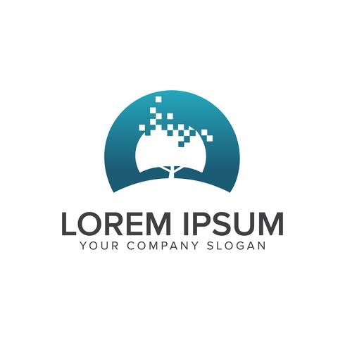 digitale Baum-Logo-Design-Konzept-Vorlage