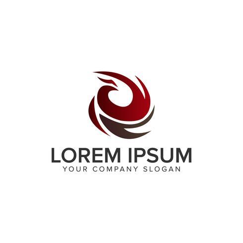Plantilla de concepto de diseño de logotipo de aves de lujo abstracto