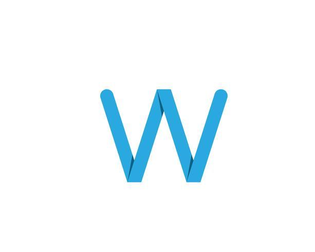 W logo bedrijfslogo en symbolenmalplaatje