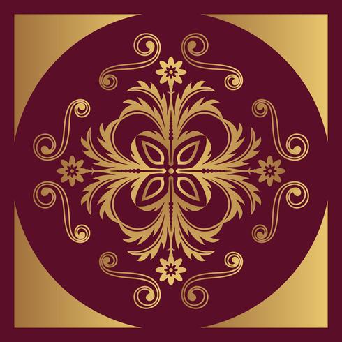 Fondo de diseño ornamental de lujo en color dorado. vector