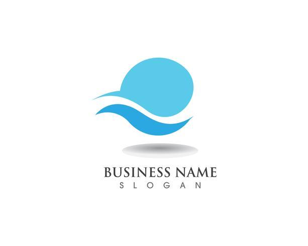 Icône et logo logo Wave Logo Logo vecteur