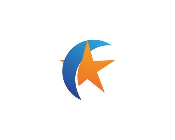 Modelo de estrela vector ícone ilustração design