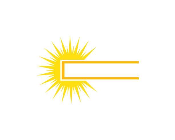Sun logo star icon web Vector