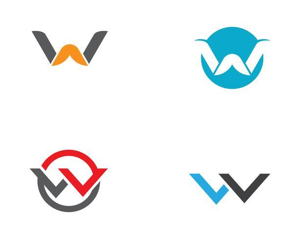 W lettres commerciales logo et symboles