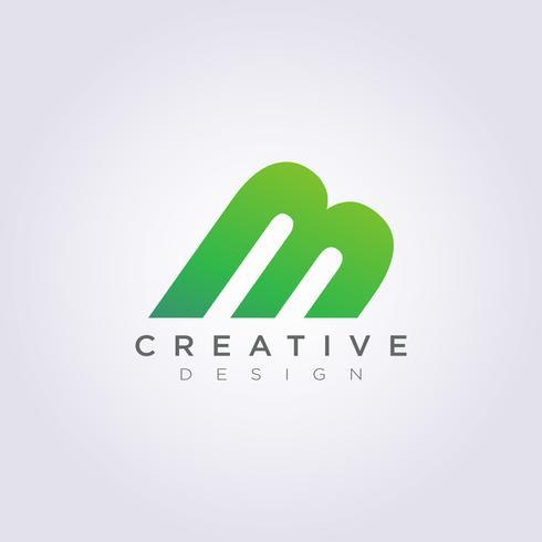 Construcción de letra M Vector ilustración diseño Clipart símbolo Logo plantilla