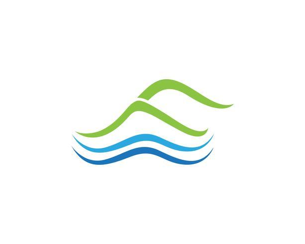 Montaña naturaleza paisaje logotipo y símbolos vector