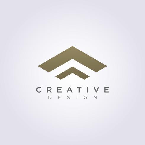 Dak huis abstracte vector illustratie ontwerp Clipart symbool Logo sjabloon