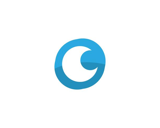 Vector de plantilla de logotipo y símbolos de cuidado de ojo