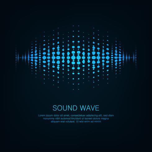 Ecualizador digital abstracto, fondo de elemento de patrón de onda de sonido de diseño creativo