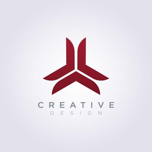 Icône abstraite triangle décoratif vecteur conception symbole de modèle de logo